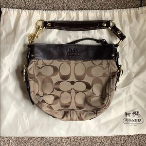 COACH 12657 Zoe Signature Jacquard Bag - Brown